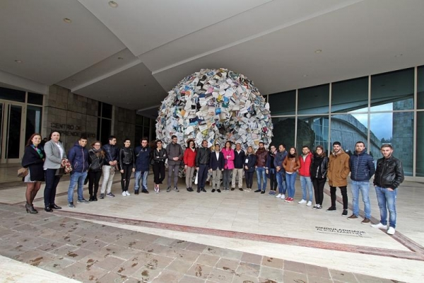 Rey Varela despide aos mozos italianos que visitaron Galicia grazas ao programa de intercambio 'A Xuventude no mundo'