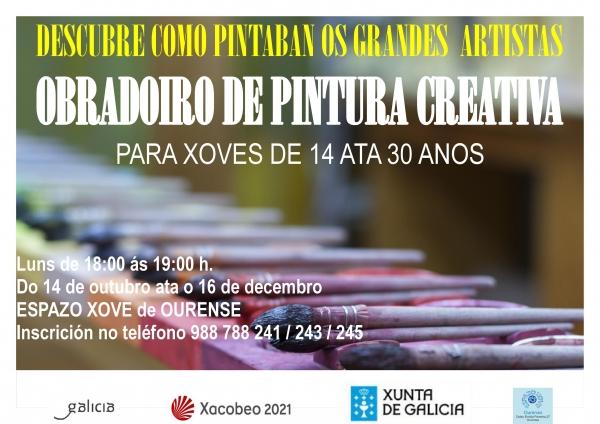 Obradoiro de pintura creativa en Ourense