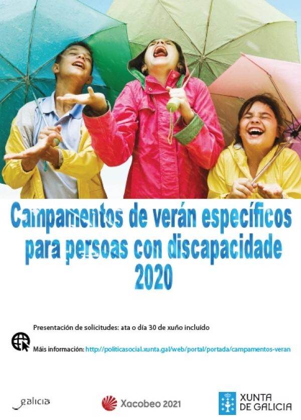 Campamentos de verán específicos para persoas con discapacidade