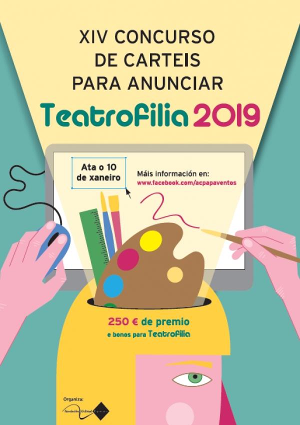 XIV Concurso de Carteis para anunciar TEATROFILIA 2019
