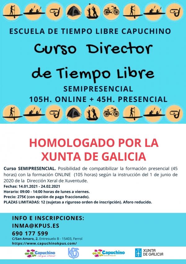 Director/a de actividades de tempo libre da ETL Capuchino en Ferrol