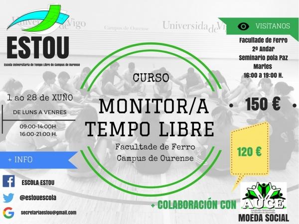 Curso de Monitor/a de actividades de tempo libre en Ourense