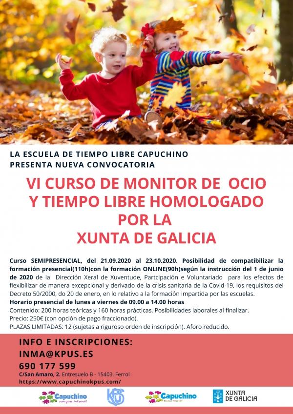 Curso de Monitoras/es de Actividades de Tempo Libre en Ferrol da ETL Capuchino