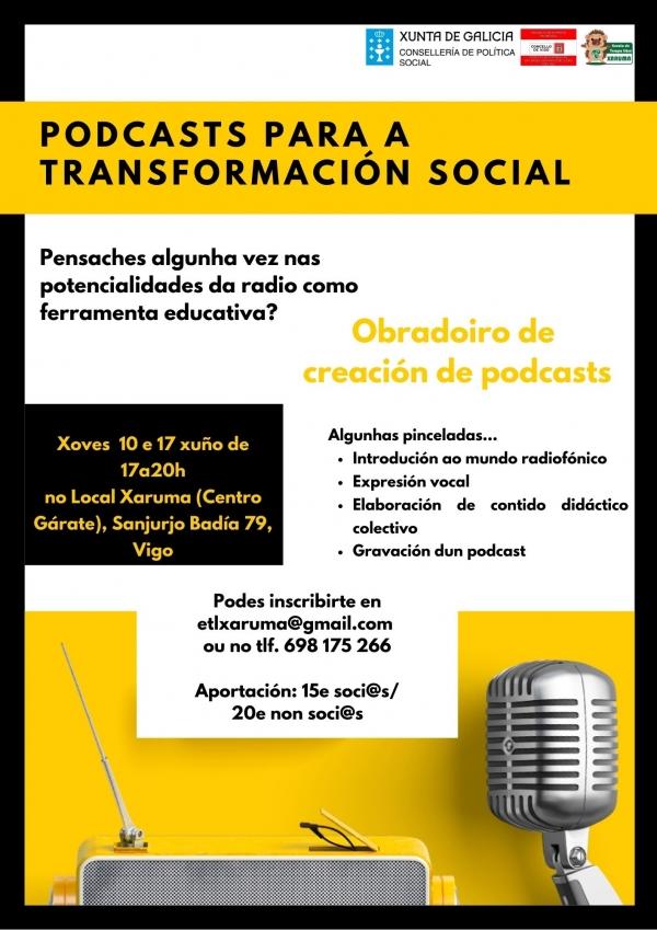 Podcast para a transformación social