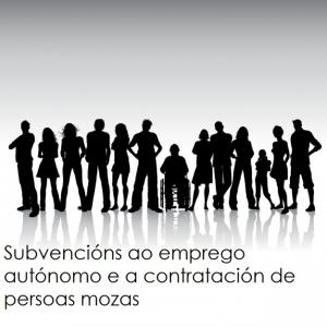 Subvencións ao emprego autónomo e a contratación de persoas mozas inscritas no Sistema nacional de garantía xuvenil