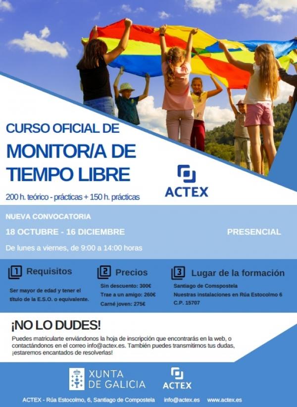 Curso de Monitor/a de actividades de tempo libre da ETL Actex
