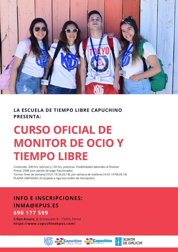 Curso de Monitores/as de actividades de ocio e tempo libre en Ferrol