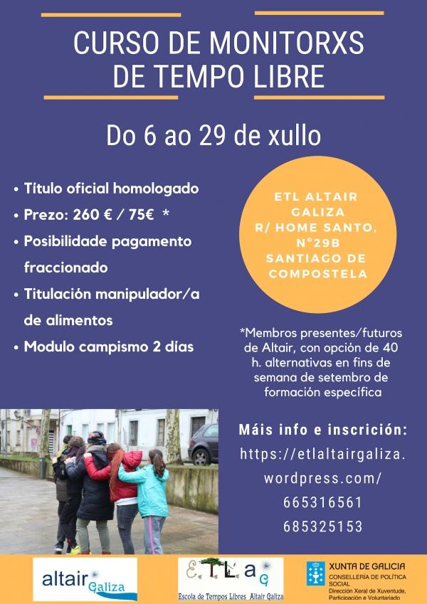 Curso de Monitor/a de actividades de Tempo Libre en Santiago