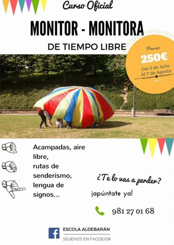Curso de Monitor/a de actividades de tempo libre en Carral