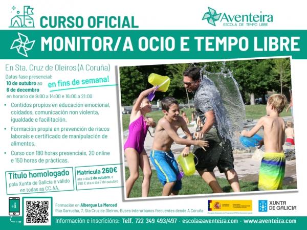 Curso de Monitores/as de actividades de tempo libre en Oleiros da ETL Aventeira