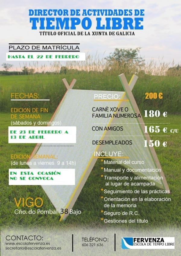 Curso de Director/a de Actividades de Tempo Libre en Vigo