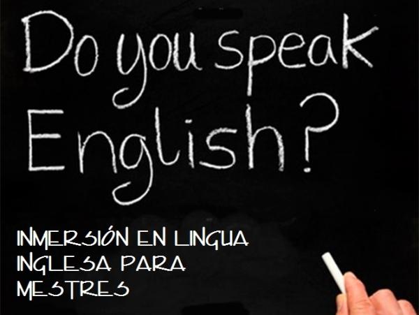 Inmersión en lingua inglesa para Mestres