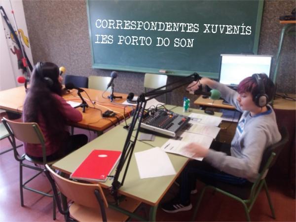 Correspondentes Xuvenís do IES Porto do Son en Onda Perseveira