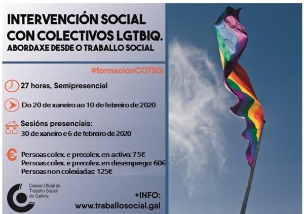 Curso COTSG: Intervención social con colectivos LGTBIQ. Abordaxe desde o Traballo Social