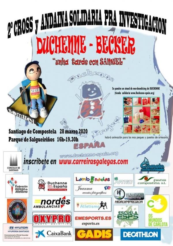 Cross e Andaina Solidaria en Santiago de Compostela para a investigación de Duchenne-Becker