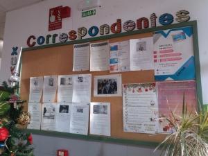 Taboleiro do equipo de Correspondentes Xuvenís do IES Porto do Son