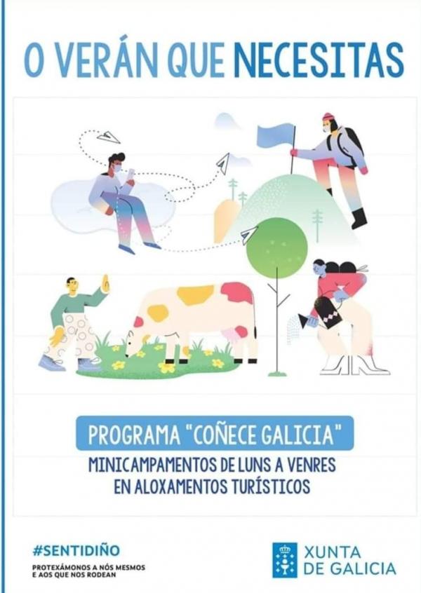 """Programa """"Coñece Galicia"""": minicampamentos de luns a venres en aloxamentos turísticos"""