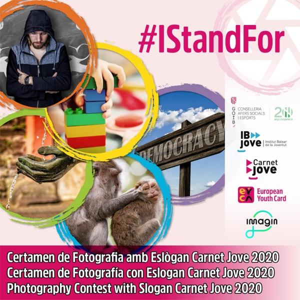 Certame de Fotografía con Eslogan Carné xove 2020 #IStandFor