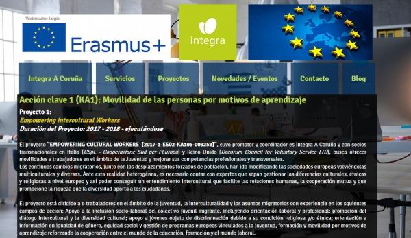 Proxecto EMPOWERING INTERCULTURAL WORKERS, Erasmus+ KA1
