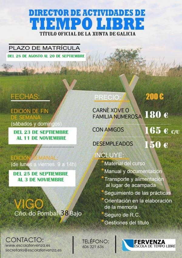 Curso de directores/as de actividades de tempo libre en Vigo