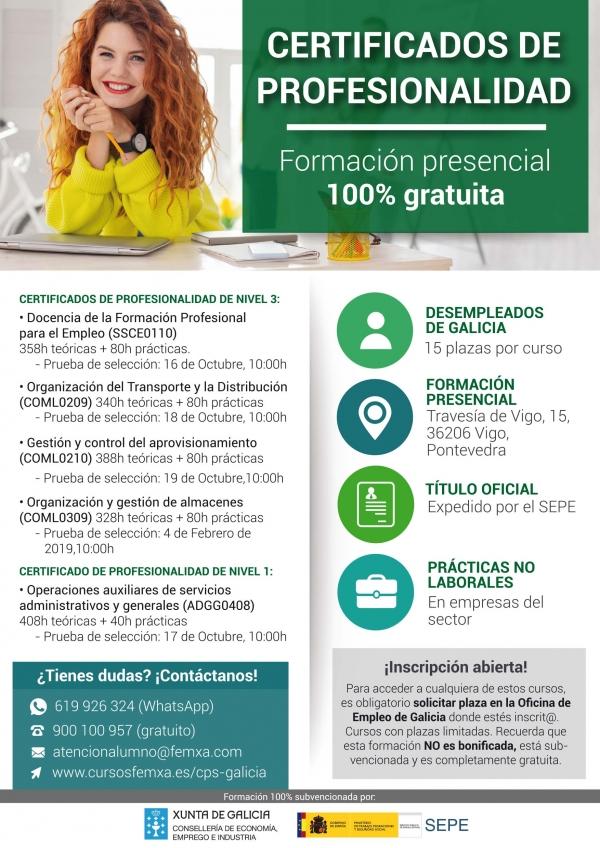 Certificados de profesionalidade en Vigo