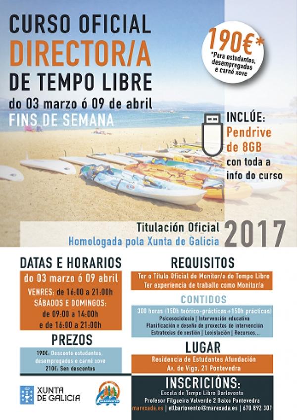 Curso de Director/a de tempo libre en Pontevedra