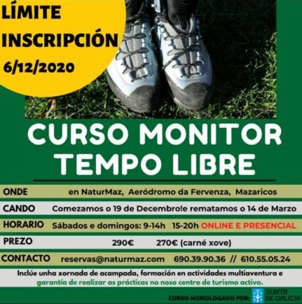 Curso de Monitores/as de actividades de tempo libre da ETL Naturmaz en Mazaricos