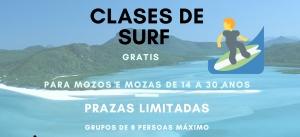 Clases de SURF no Espazo Xove de Pontedeume