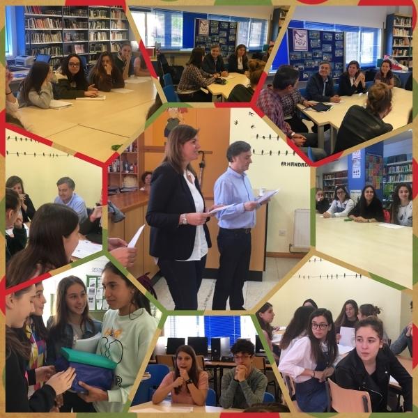 Artigo de Uxía López, alumna do IES Saturnino Montojo de Ferrol sobre a visita da Directora Xeral de Xuventude, Cecilia Vázquez ao centro educativo