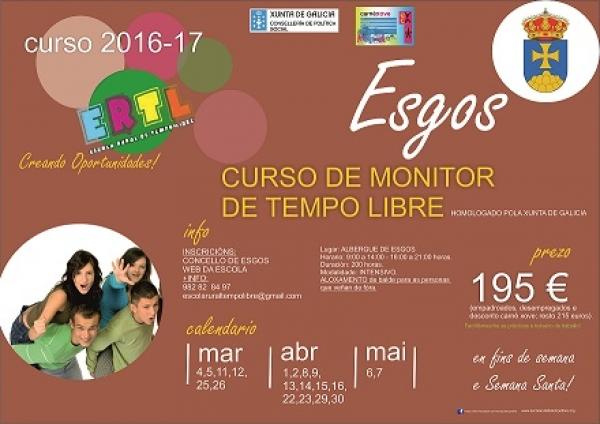 Curso de Monitor/a de actividades de tempo libre en Esgos