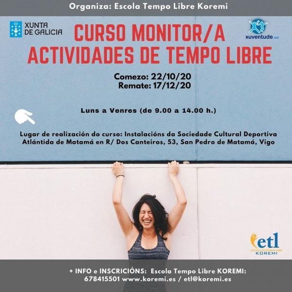Curso de Monitores/as de actividades de tempo libre en Vigo da ETL Koremi