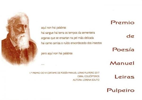 IX Premio de Poesía Manuel Leiras Pulpeiro