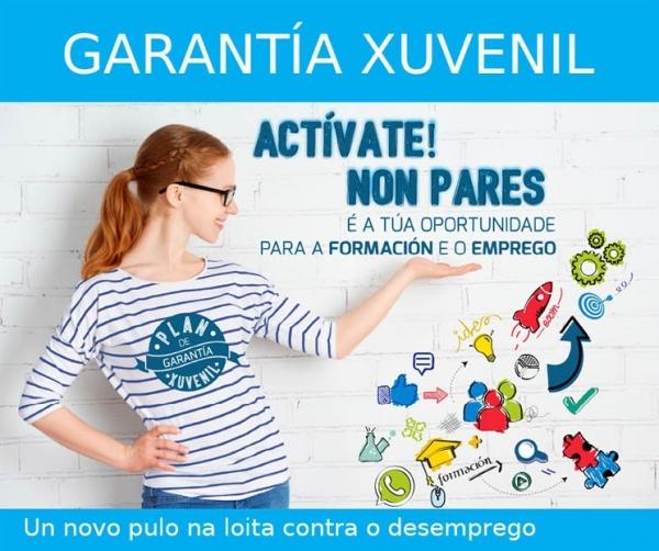 Accións formativas dirixidas ás persoas novas inscritas en Garantía Xuvenil