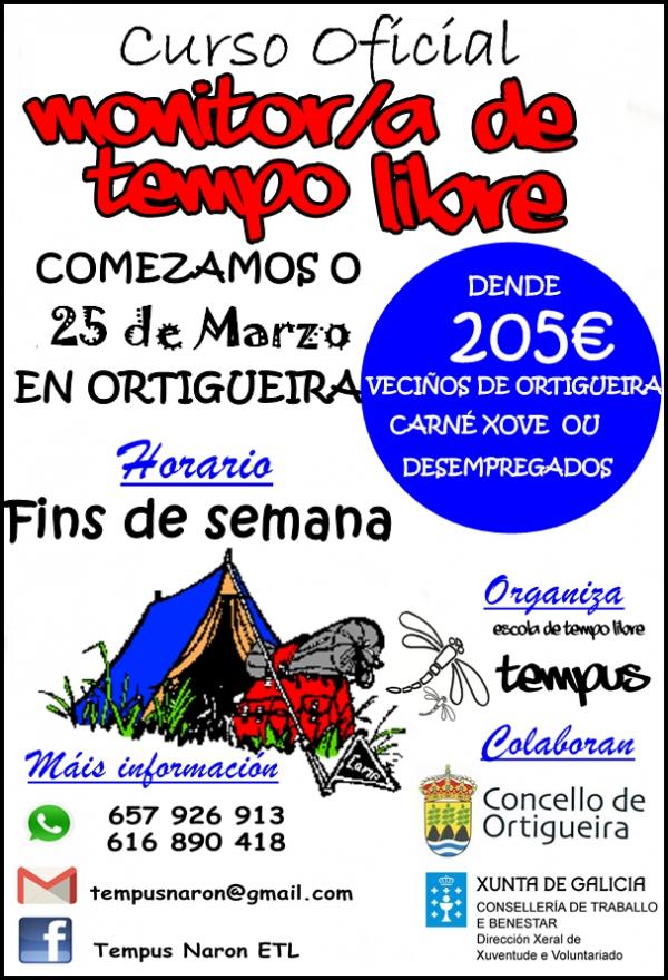 Curso de Monitor/a de actividades de tempo libre en Ortigueira