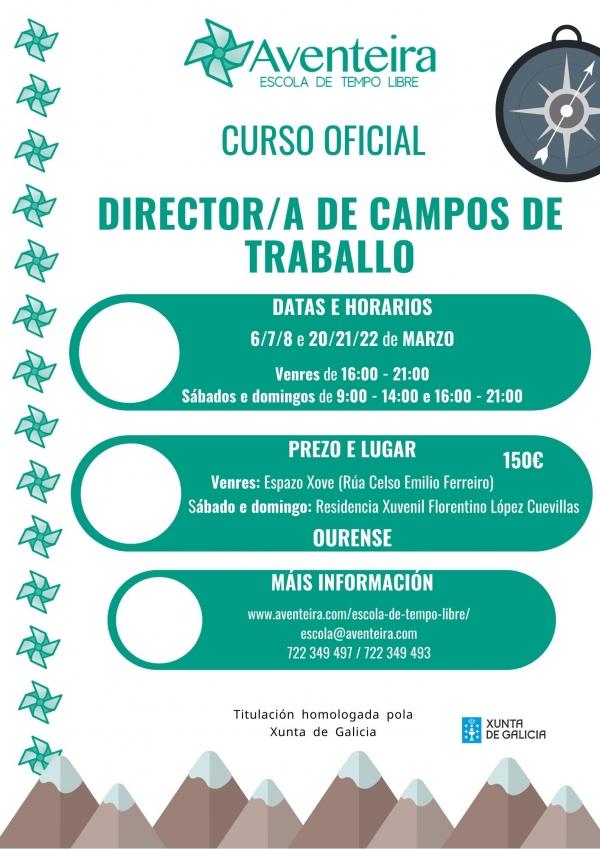 Director/a de Campos de Traballo en Ourense- ETL Aventeira