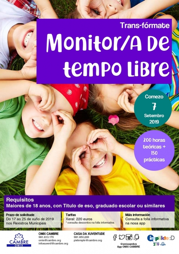Curso de Monitoras/es de Actividades de Tempo Libre en Cambre