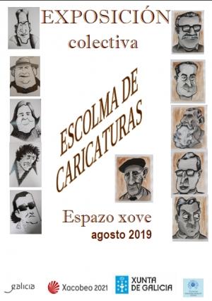Exposición de caricaturas no Espazo Xove de Ourense
