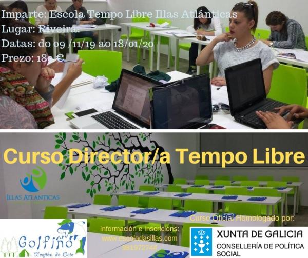 Curso de director/a de tempo libre en Riveira da escola Illas Atlánticas