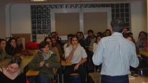 Visita ao Centro coordinador de información xuvenil dos Correspondentes Xuvenís do IES Rosalía de Castro de Santiago de Compostela