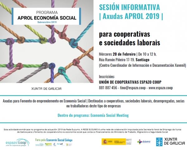 Sesión Informativa en 'Economía Social Meeting'. Axudas Aprol 2019