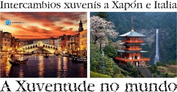 """""""A Xuventude no mundo"""" edición 2019: intercambios xuvenís a Xapón e Italia."""