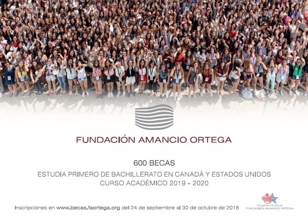Bacharelato en Canadá ou EE.UU: Bolsas da Fundación Amancio Ortega