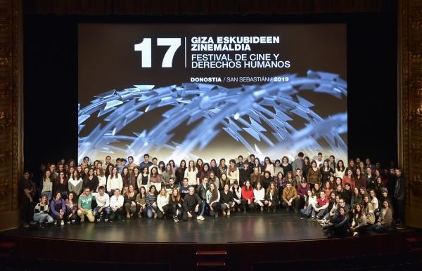Xurado de mozas e mozos para o 18º Festival de Cinema e Dereitos Humanos de San Sebastián