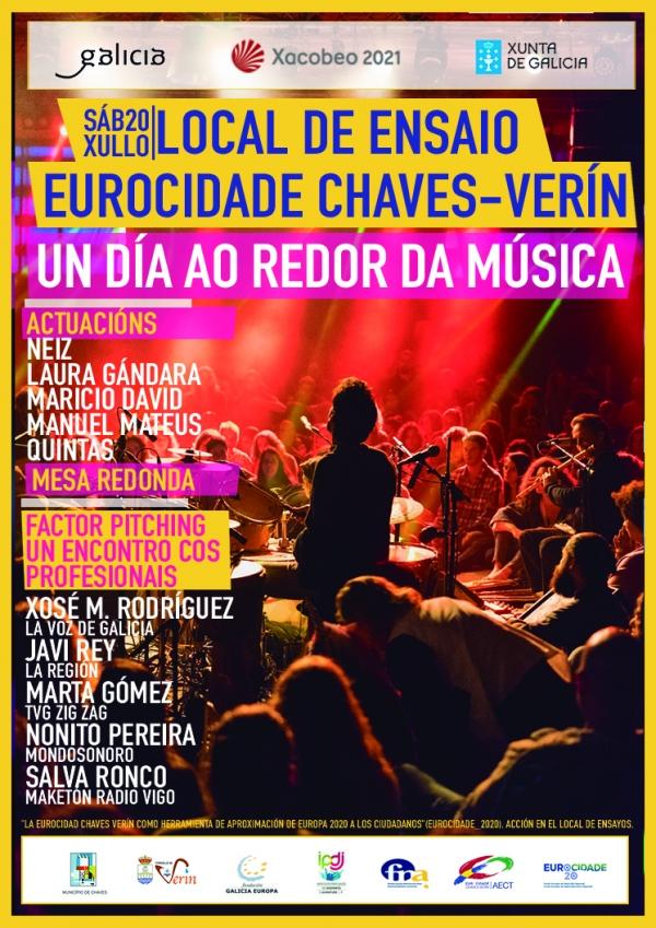"""""""Un día ao redor da música"""" - Local de ensaio da Eurocidade Chaves Verín."""