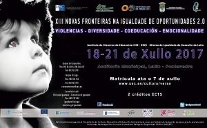 XIII Novas fronteiras na igualdade de oportunidades 2.0: Violencias, Diversidade, Coeducación, Emocionalidade