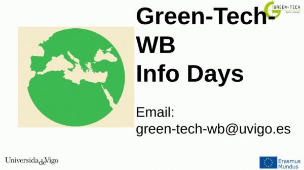 Programa de Mobilidade con Balcáns Occidentais GREEN-TECH-WB