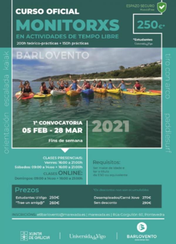 Curso Monitor/a de actividades de tempo libre en Pontevedra da ETL Barlovento