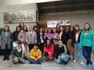 Voluntari@s de Xuventude de Sanxenxo que participaron nos actos do 25N