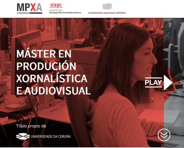Bolsas para o Máster en Produción Xornalística e Audiovisual da UDC