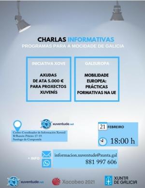 Charla informativa en Santiago sobre programas para a mocidade